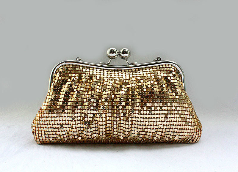 shinning small round sequins handbagclutch purse bride