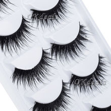 5 Pairs Beauty Thick Makeup False Eyelashes Long Black Nautral Handmade Eye Lashes Extension(China (Mainland))