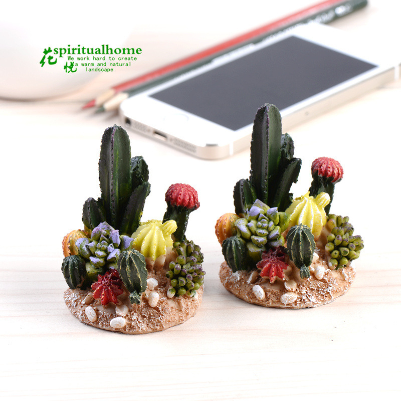 2015 New Hot Kawaii Crafts Miniature Garden Cactus Fairy Plant America Miniature Fairy Figurines Plant(China (Mainland))
