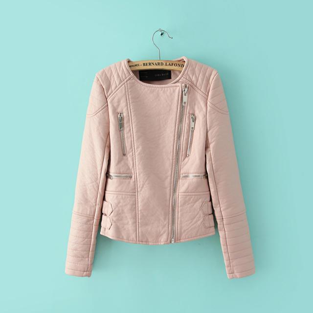 Мода розовый голубой женщин кожаная куртка бомбардировщиков мотоцикла кожаные куртки мужчин 3 цвет бренда кожаное пальто jaqueta couro