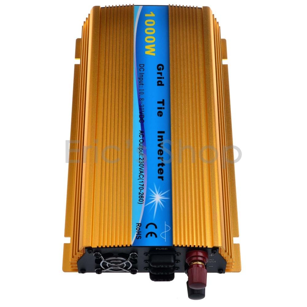 1000W Grid Tie Inverter DC10.5V-30V to AC220V Pure Sine Wave Inverter Fit For 18V Panel 36cells CE ROHS(China (Mainland))