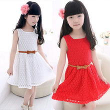 New Kids Princess Flower Girls Lace Summer Dress Beautiful Children's Clothes Age 3-12T Sweet Dresses For Baby Girl