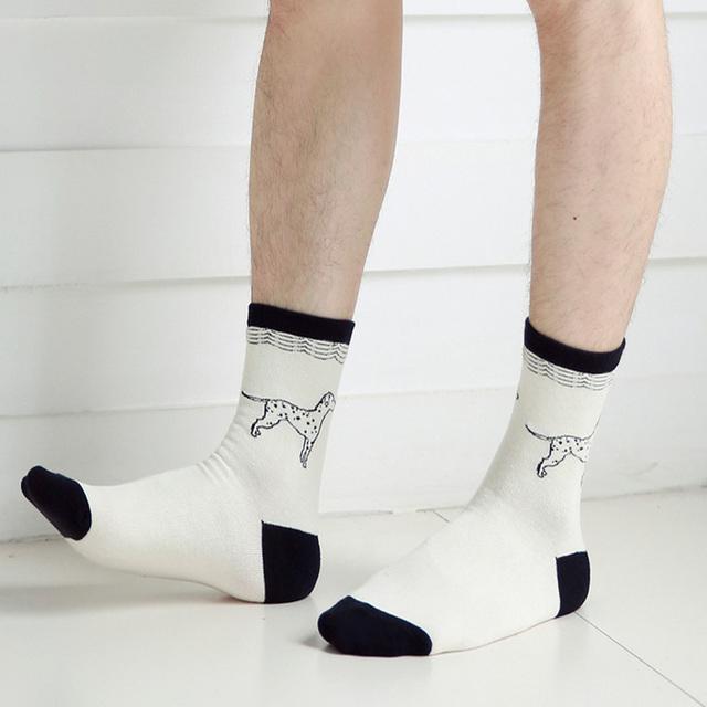 Skarpetki bawełniane w psie wzory unisex