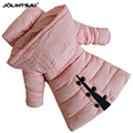2016 Winter Jacket For Girls Outerwear Coat Cotton padded Parka Hooded Jackets Kids Girl Clothes Warm
