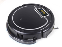 (Free Shipping to Russia) 2015 Newest Wet and Dry Mop Vacuum Cleaner Robot With Water Tank,Touch Screen,Schedule, Self Charge,UV