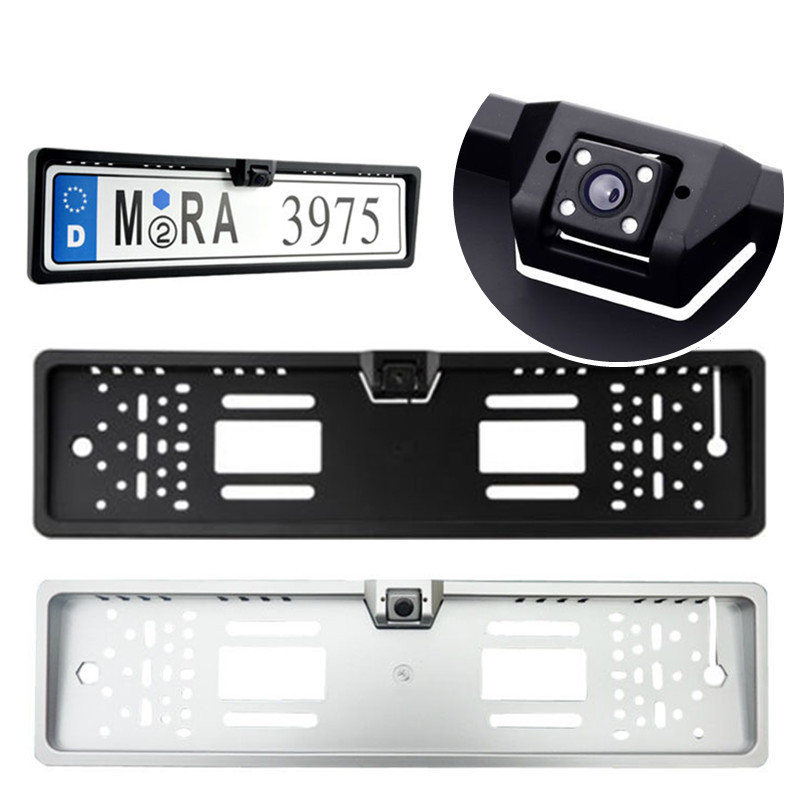2015 New Arrival High Quality 170 European Car License Plate Frame Auto Reverse Rear View Backup Camera 4 LED(China (Mainland))