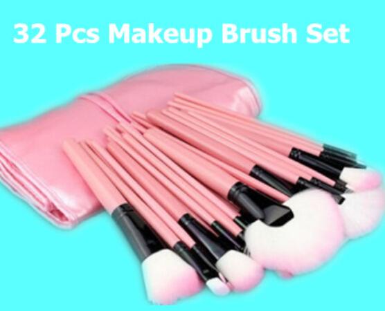 Pro 32Pcs Superior Soft Cosmetic Eyeshadow Makeup Brush Set Kit + Pink Case <br><br>Aliexpress