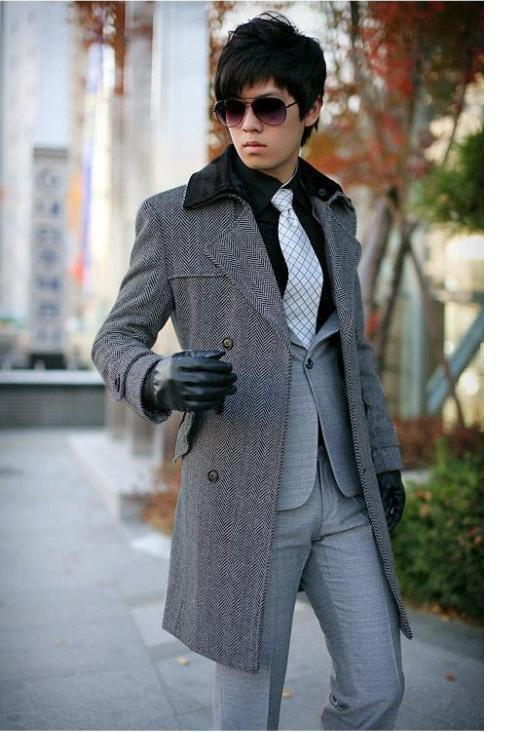 2012 TUOYI The latest thickened tunic man coat winter Mens plus cotton windbreaker&coat(free shipping)