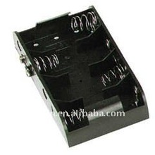 300pc/lot UM1X4 Battery Holder Case Box 4 x D (6V) with Snap Connector,RoHS(China (Mainland))