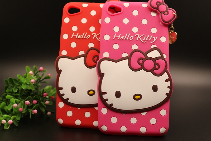 Soft Silicon Case For Lenovo S90 Hello Kitty Phone Bag 3D Cartoon Dot&Bow KT With Love Pendant Back Durable Cover High Quality(China (Mainland))