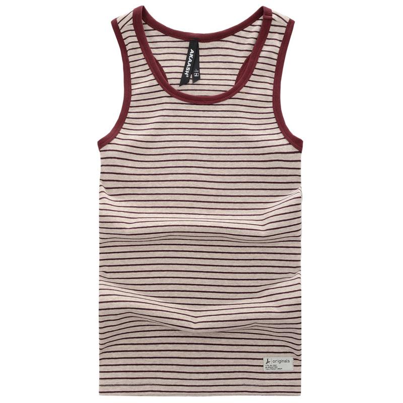 100% cotton sports casual round neck striped undershirt men 2015 summer new(China (Mainland))
