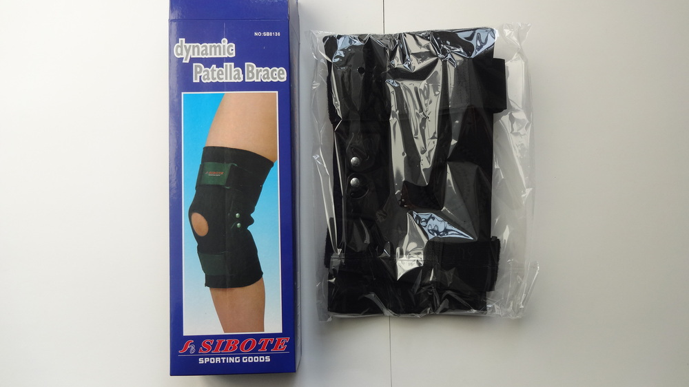 Free shipping SIBOTE 8136 new best professinal elastic neoprene sports open plastic hinged knee braces support protector(China (Mainland))