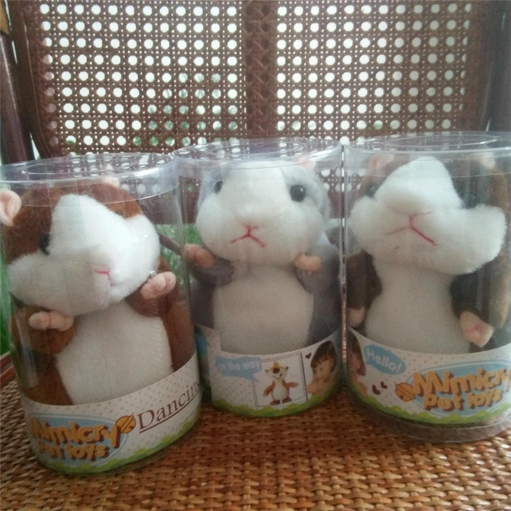 2017 Talking Hamster Mouse Pet Plush Toy Hot Cute Speak Talking Sound Record Hamster Educational Toy for Children Gift(China (Mainland))