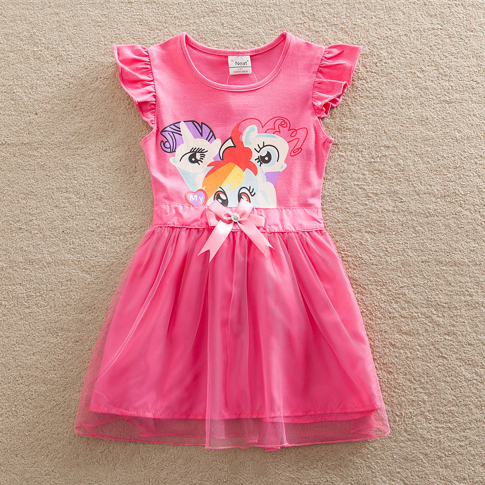 Retail Baby girl dress my little pony summer lace child dress girl wear kid clothes children dress baby girl clothes SD669(China (Mainland))