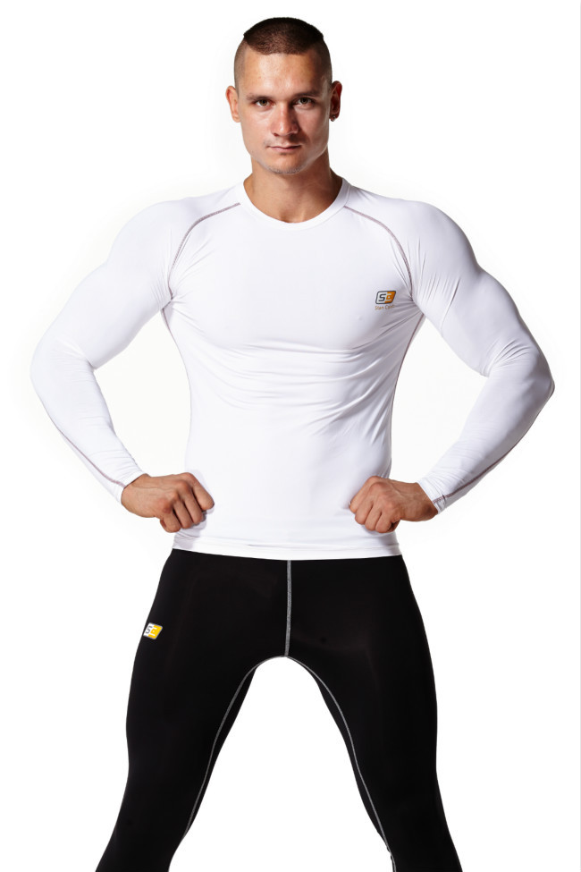 Mens Cycling Sports T-shirt Compression Workout Tops Tight Short Sleeve Gym Tees