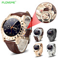 FLOVEME Sport Bluetooth Smart Watch Passometer Reminder Leather Stainless Steel Smart Wristwatch For Android Samsung Huawei