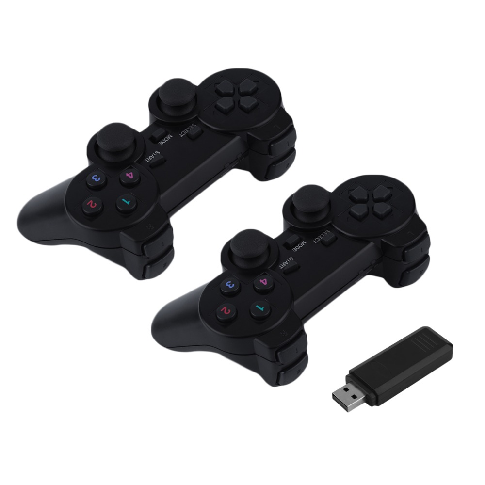 2x 2.4G USB Wireless Dual Vibration Gamepad Controller Joystick With 256 level 3D Analog Stick For PC Laptop<br><br>Aliexpress