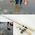 Winter Small Portable Shrimp Ice Fishing Rod Pole Mini Rods Fishing Tackle fishing reel not include