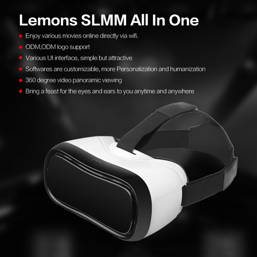 All in one vr headset virtual reality 3D glassess Quad Core ARM Cortex Android 5.1 2GB 16GB support wifi bluetooth vr box