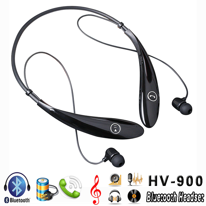 High Quality HV900 Stereo Bluetooth Sports Handfree Headset Wireless Headphones audifonos bluetooth HEADPHONES ecouteur(China (Mainland))