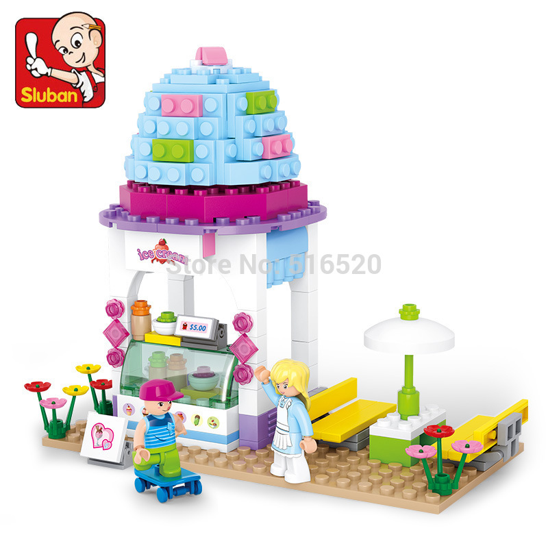 Buy sluban 0525 pink dream series ice for Ice block construction