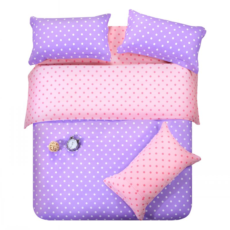 Popular purple polka dot bedding buy cheap purple polka dot bedding