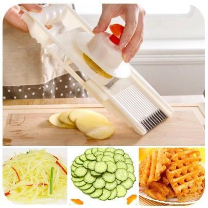 5 shapes Home kitchen accessories cooking tools fruit vegetable shredders&slicers potato cuke pieces/cut flower/Garlic mincing(China (Mainland))