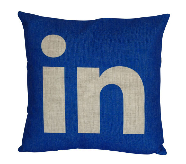Bulk Throw Pillow Cases : Linkedin pillow cover, Creative social media logo Linkedin throw pillow case pillowcase ...