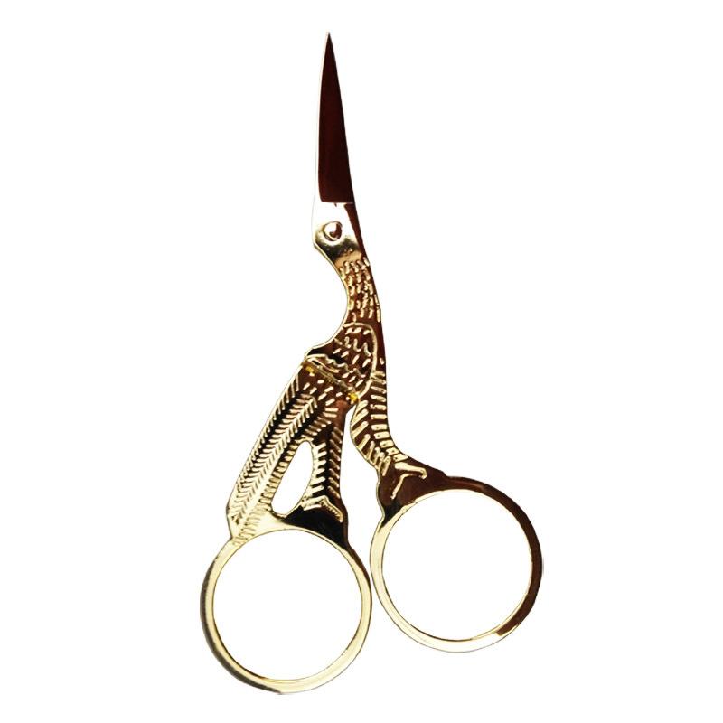 "Гаджет  1 pc Vintage Style Antique Design Embroidery Heron Egret Sewing Scissors 3-1/2"" None Инструменты"