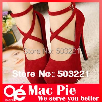 Гаджет  Fashion women pumps shoes shallow mouth cross hasp ultra high heels platform thin heels wedding shoes single shoes None Обувь