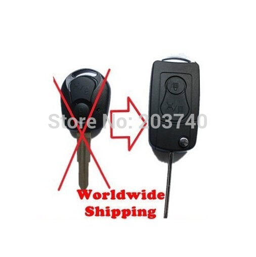 Wholesale!Flip Remote Key Case Suit Actyon, SUV, Kyron Rexton shell Blank for Ssangyong,Key Case for Car,10pcs/lot(China (Mainland))