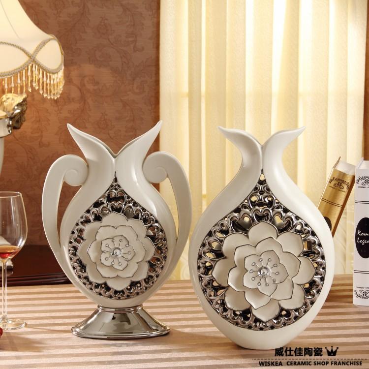 Wiskea ceramic vase decoration modern home accessories for Decoration vases modern
