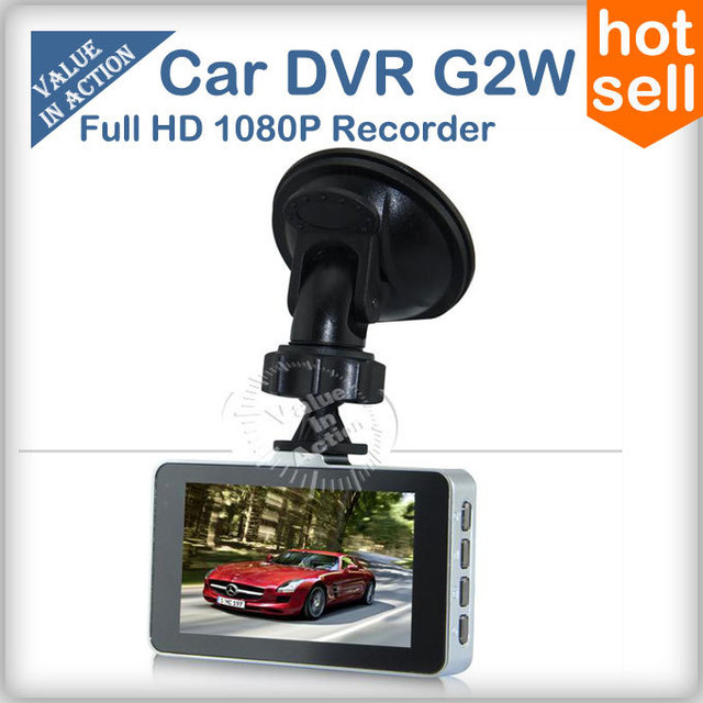 G2W May 2013 New Novatek Original Blackview 1080P Full HD Car DVR G-sensor H.264 HDMI Enhanced IR Night Vision SOS