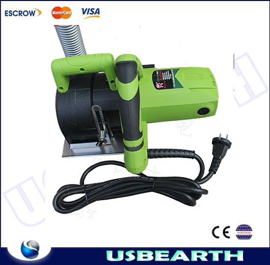 Freeshipping, groove cutting machine 125mm, Concrete wall cutting machine, dust collector(China (Mainland))