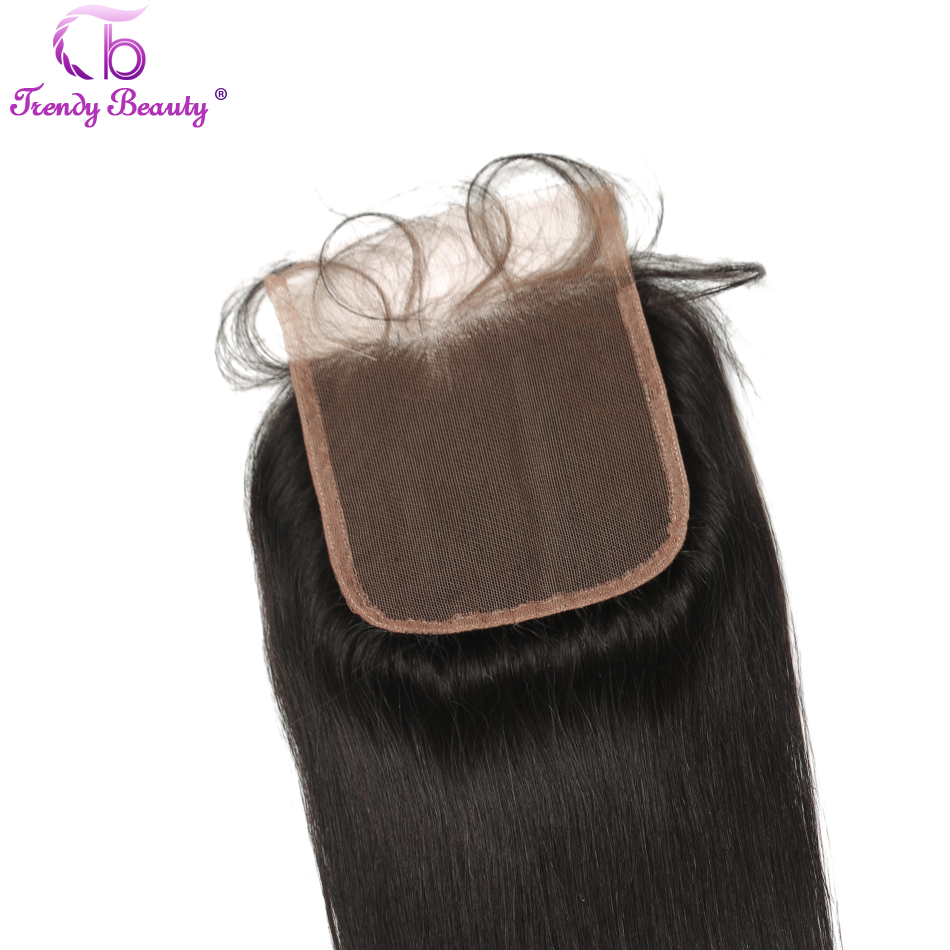 Trendy Beauty Lace Closure Brazilian Straight 4×4 Lace Closure With Baby Hair 100% Human Remy-Hair Free Shipping
