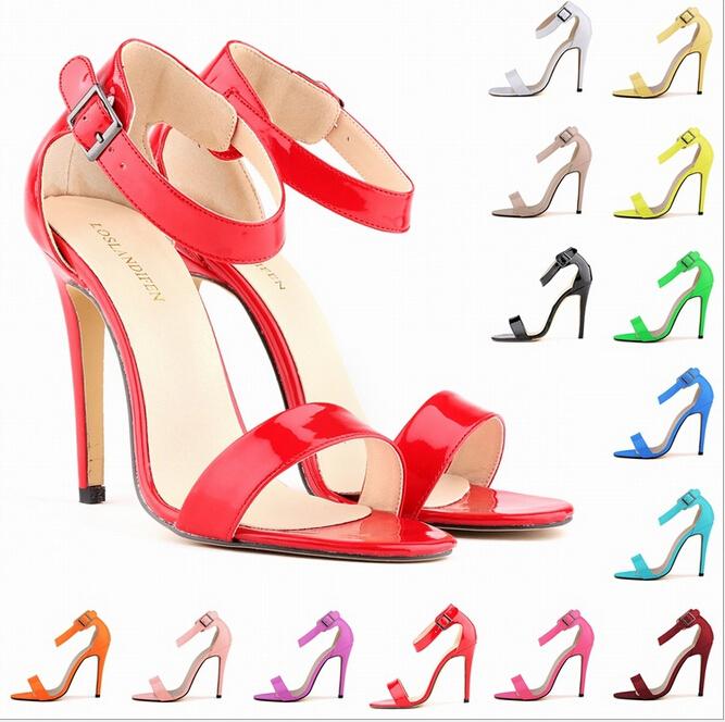 Colorful Strappy Heels | Tsaa Heel