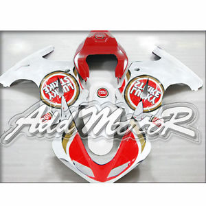 Free 5 Gift ABS White Red lucky Handcrafted Fairing Fit SV650 SV1000 2003 13 Cover Racing Seat Windshield Mid Side(China (Mainland))