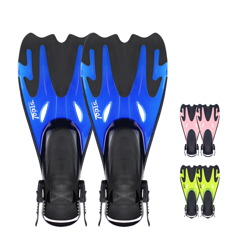 2 Size Adult Swimming Fins Adjustable Submersible Long Fins Snorkeling Foot Swimming Flipper Diving Fins Diving Sports Accessory<br><br>Aliexpress