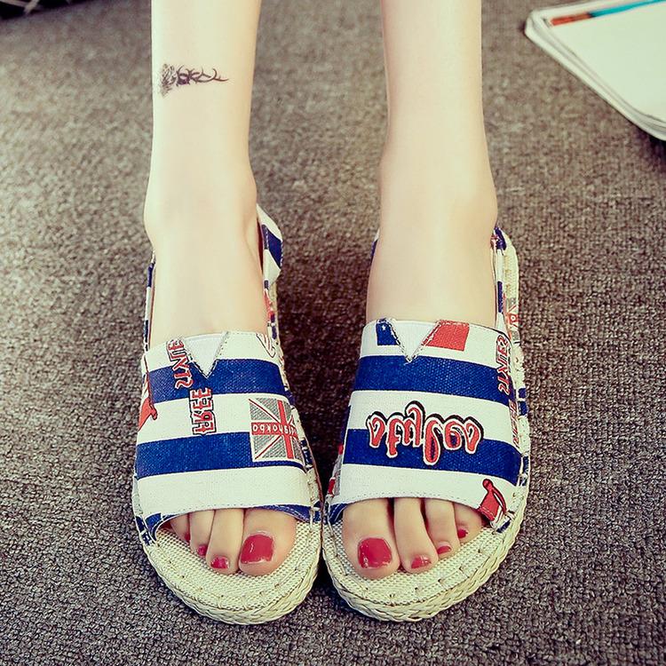 2015 twiner stro vlecht toevallige canvas schoenen visser vrouwelijke vlakke platform sandalen. Black Bedroom Furniture Sets. Home Design Ideas