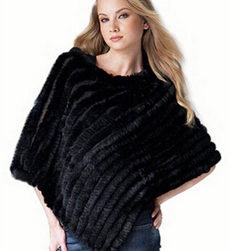 Chopop Fur Fashion Fur Poncho knitted rabbit fur small cape DROP SHOPPING Wholesale and Retail Triangle Fur Shawl 8 colors(China (Mainland))