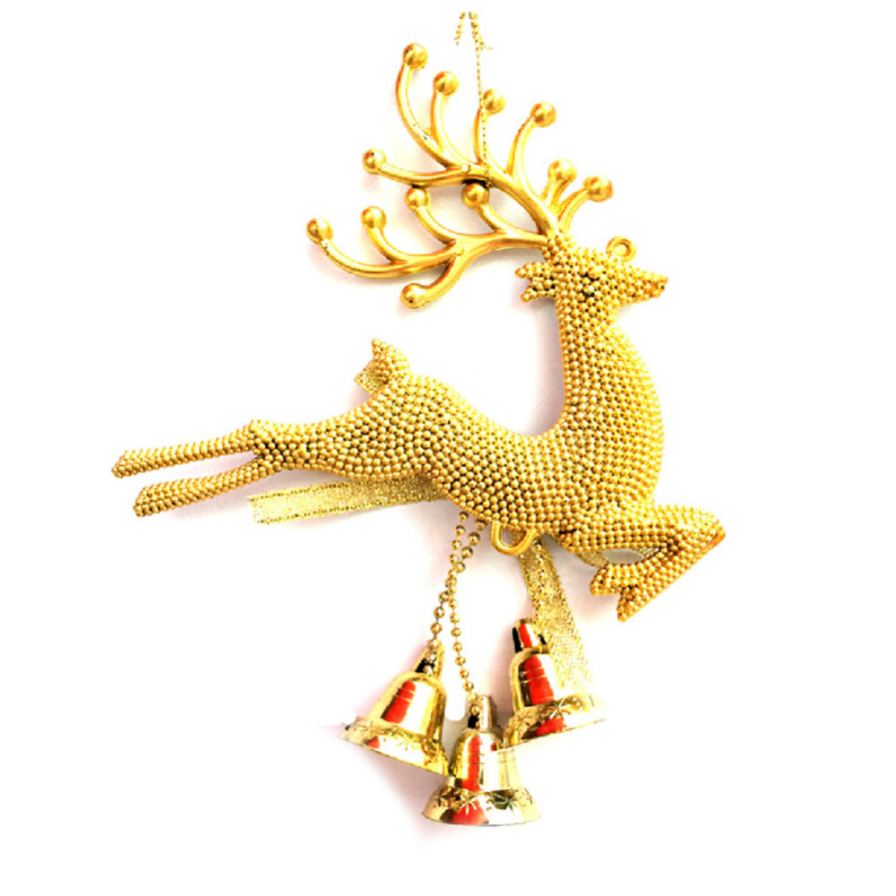 Pcs reindeer christmas tree top decoration gold and sliver colors