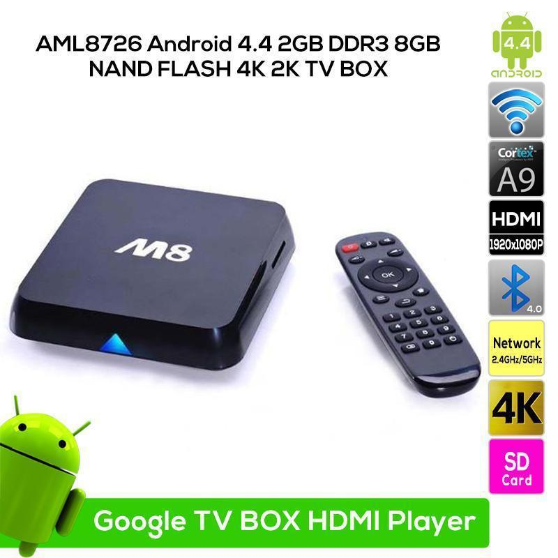 Amlogic S812 M8 4K Quad core A9 2160P media Octo Core Google android 4.4 tv box XBMC Media Player WIFI Bluetooth 2G 8G Mini PC(China (Mainland))