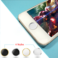 Metal Aluminium Round Mobile Phone Home Button Sticker For iPhone 6 6S Plus 4S 4 5