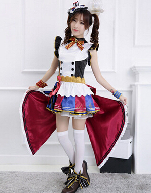 FREE pp Anime Love Live! Lovelive Lolita Cosplay Uniform Maidservant Costume Candy Dress(China (Mainland))