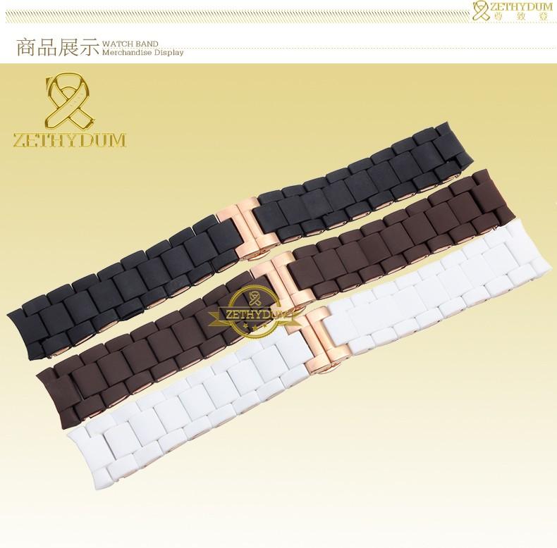 Силиконовая Резина Ремешок Для Часов силиконовый браслет браслет Из Розового золота пряжки для AR5905 AR5906 AR5920 AR5919 20 23 мм смотреть band ремешок