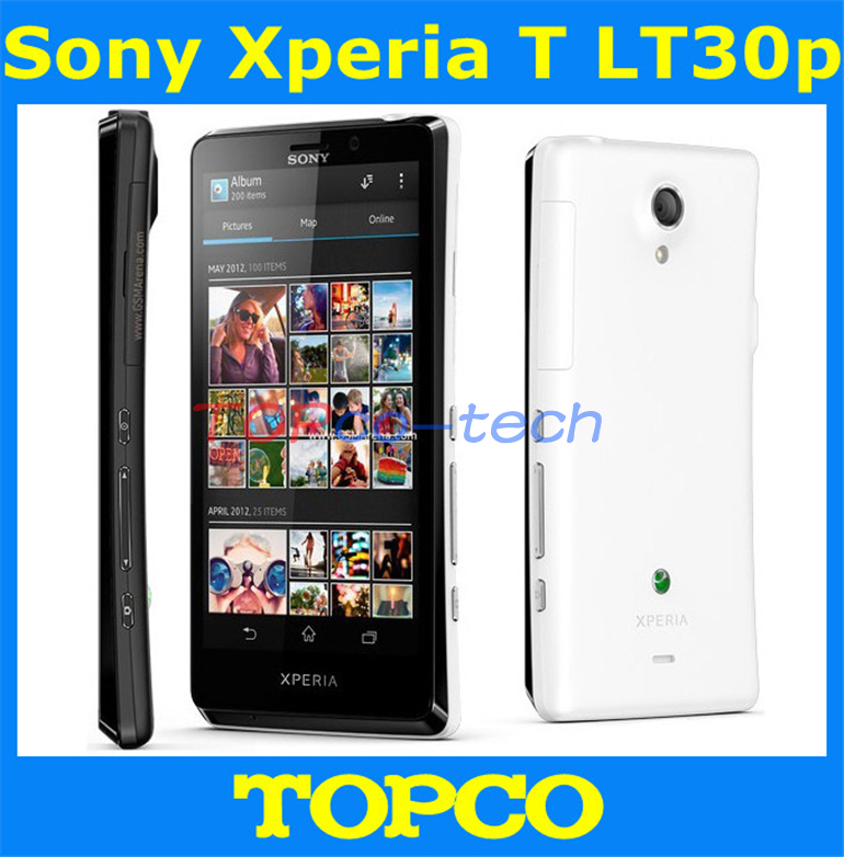 Original Sony Xperia T LT30P unlocked mobile phone Sony LT30p 16GB Dual-core 3G GSM WIFI GPS 4.55'' 13MP Smartphone dropshipping(China (Mainland))
