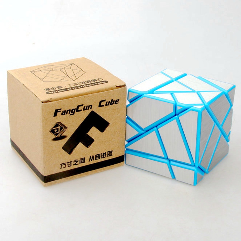 Fangcun 57mm 3x3x3 Ghost Dice Skewb Magic Cubes Pace Puzzle Sport Cubes Academic Toys For Children Youngsters – DIY Sliver Sticker