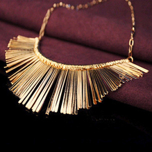 Gold Silver Gray 3 Colors Tassel Necklace Collier Femme High Quality Vintage Jewelry Statement Chokers Necklace & Pendants(China (Mainland))