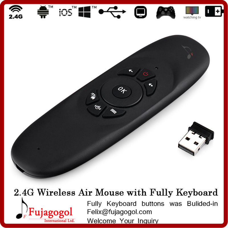 mini gyration wireless mobile air mouse keyboard for tv samsung ...