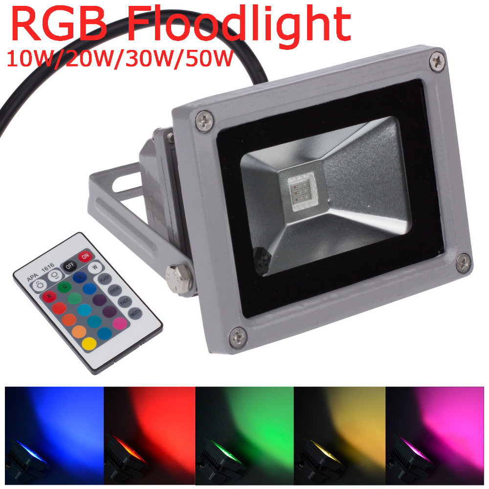 2015 new ip65 waterproof 10w 20w 30w 50w rgb multicolor for Focos led exterior 50w